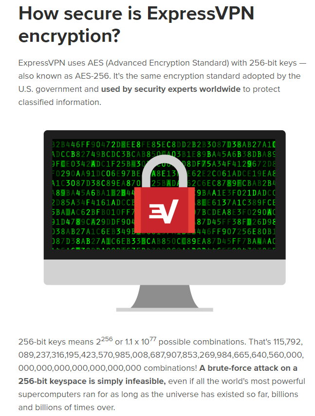 Express vpn encyption